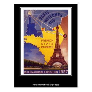 Vintage Postkarte Paris