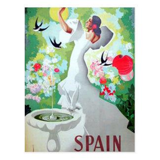 Vintage Postkarte Spaniens