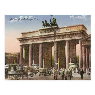 Vintage Postkarte von Brandenburger Felsen Berlin