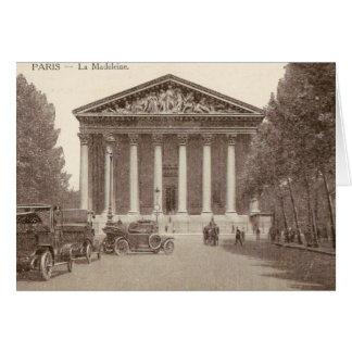 Vintage Postkarte von La Madeleine Paris