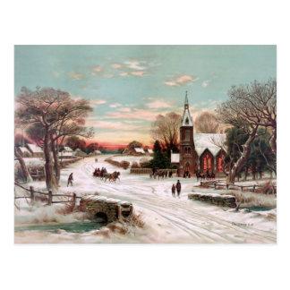 Vintage Postkarte Weihnachtsabends