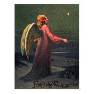 Vintage Postkarte Weihnachtsengel