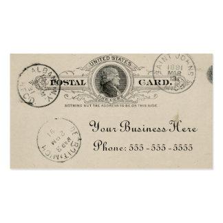 Vintage Postkarten-Geschäfts-Karte Visitenkartenvorlagen