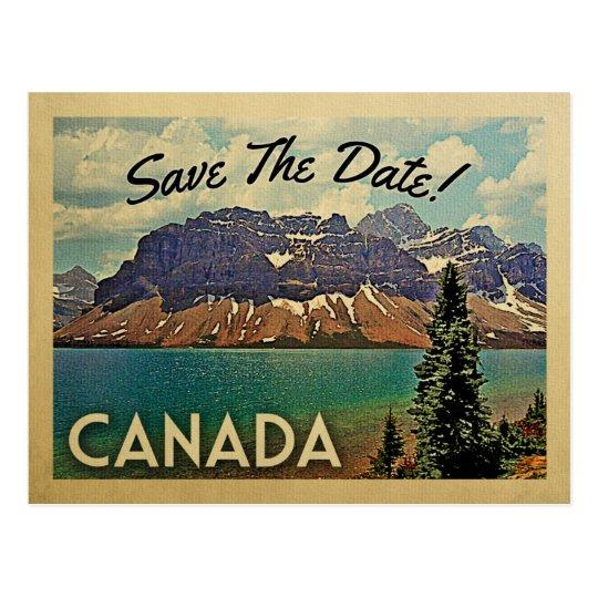 vintage postkarten kanadas save the date. Black Bedroom Furniture Sets. Home Design Ideas