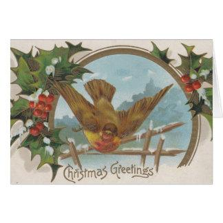 Vintage Postkarten-Weihnachtsgrüße Notecards Karte