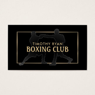Vintage Proboxer, boxend Visitenkarte