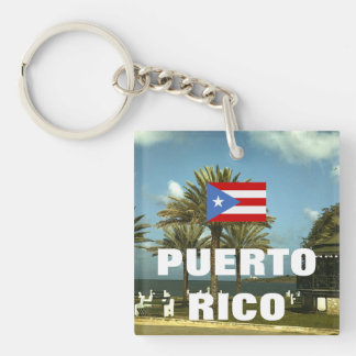 Vintage Puerto- Ricophotographie Schlüsselanhänger