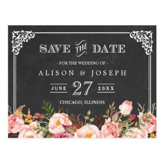 Vintage Rahmen-Tafel, die Save the Date Wedding Postkarte