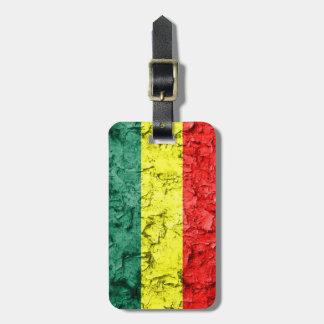 Vintage rasta Flagge Gepäckanhänger