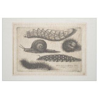 Vintage Raupen-Schnecke-Insekten-Tapisserie (56) Stoff