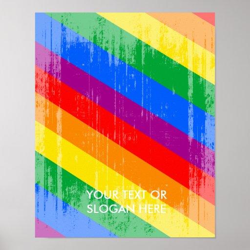 Vintage Regenbogen-Streifen Posterdrucke