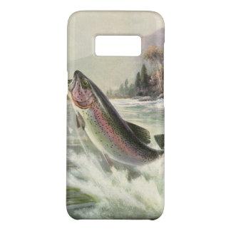 Vintage Regenbogenforelle-Fische, Fischer-Fischen Case-Mate Samsung Galaxy S8 Hülle
