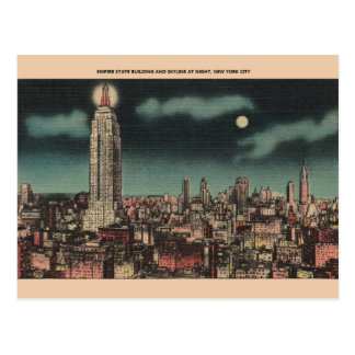 Vintage Reich-Staats-Gebäude-New- Yorkpostkarte Postkarte