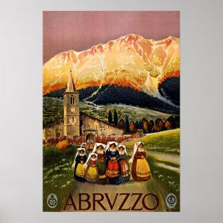 Vintage Reise Abruzzos Italien Poster