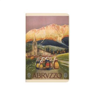 Vintage Reise Abrvzzo Italien Taschenzeitschrift Taschennotizbuch