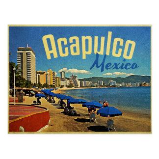 Vintage Reise Acapulcos Mexiko Postkarte