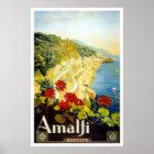 Vintage Reise, Amalfi Poster