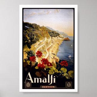 Vintage Reise Amalfis Italien Italien Poster