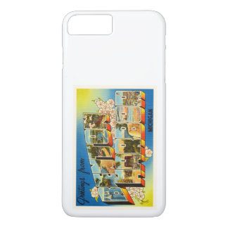 Vintage Reise-Andenken Benton Hafen-Michigans MI iPhone 8 Plus/7 Plus Hülle