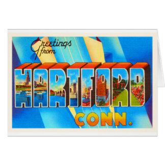 Vintage Reise-Andenken Hartfords Connecticut CT Karte