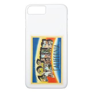 Vintage Reise-Andenken Los Angeles Kalifornien CA iPhone 8 Plus/7 Plus Hülle