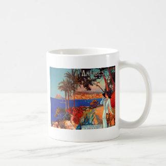 Vintage Reise Antibes Cote d'Azur Kaffeetasse