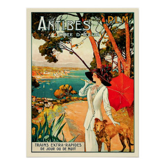 Vintage Reise Antibes Cote d'Azur Poster