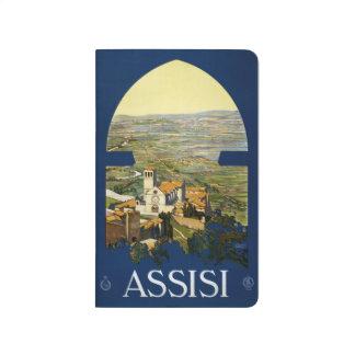 Vintage Reise Assisi Italien Taschenzeitschrift Taschennotizbuch