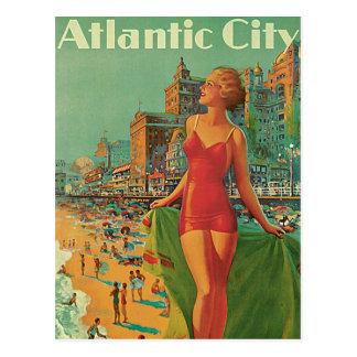Vintage Reise; Atlantic City Erholungsort, setzen  Postkarte