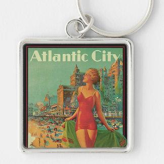 Vintage Reise, Atlantic City Schlüsselanhänger