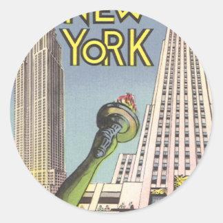 Vintage Reise, berühmte New- York Runder Aufkleber