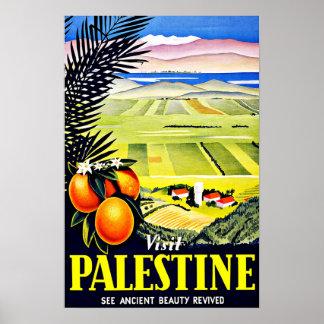 Vintage Reise Besuchs-Palästinas Poster
