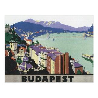 Vintage Reise Budapest Ungarn Postkarte