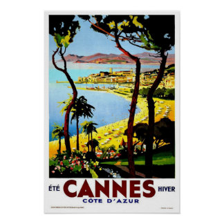 Vintage Reise, Cannes Poster
