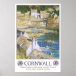 Vintage Reise, Cornwall Posterdruck