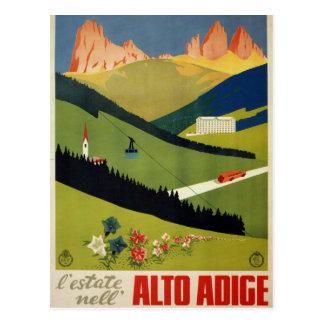 Vintage Reise der Alt-Etschs (Südtirol) Italien Postkarte