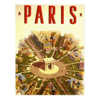 Vintage Reise, der Arc de Triomphe Paris Postkarte