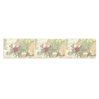 Vintage Reise der europäischen Karte Kurzer Tischläufer