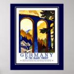 Vintage Reise Deutschland der schwarze Wald groß Posterdrucke
