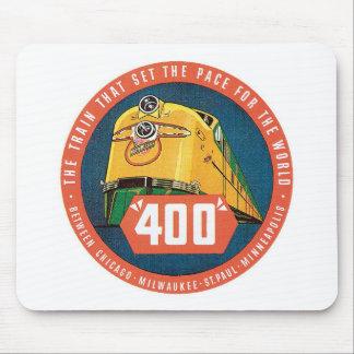Vintage Reise durch Zug US-Staats-Aufkleber-Kunst Mousepad