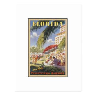 Vintage Reise Floridas Postkarte