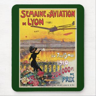 Vintage Reise, Flugzeug-Flugschau, Lyon, Mauspads