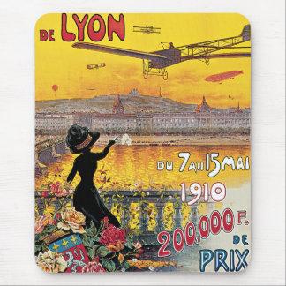 Vintage Reise, Flugzeug-Flugschau, Lyon, Mousepads