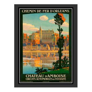 Vintage Reise Frankreich, Amboise Schloss - Postkarte