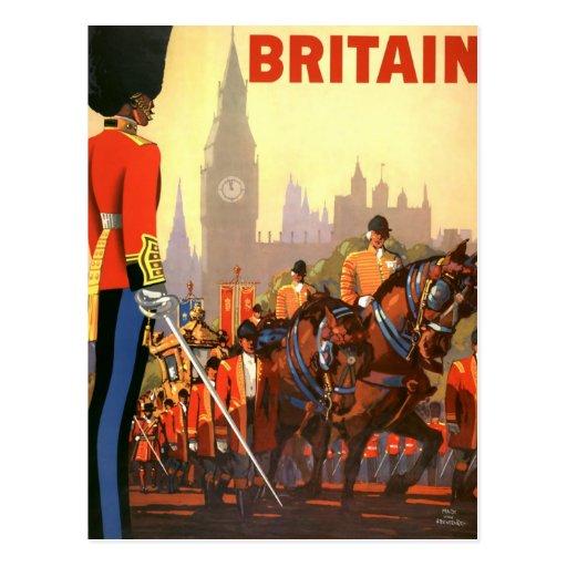 Vintage Reise, Großbritannien England, königlicher Postkarte