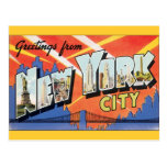 Vintage Reise, Grüße von New York City NYC