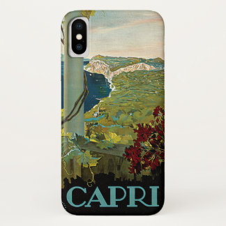 Vintage Reise, Insel von Capri, Italien Italien iPhone X Hülle