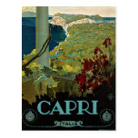 Vintage Reise, Insel von Capri, Italien Italien Postkarte