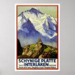 Vintage Reise, Interlaken Posterdrucke