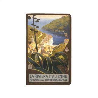 Vintage Reise-Italiener Rivier Italien Taschennotizbuch